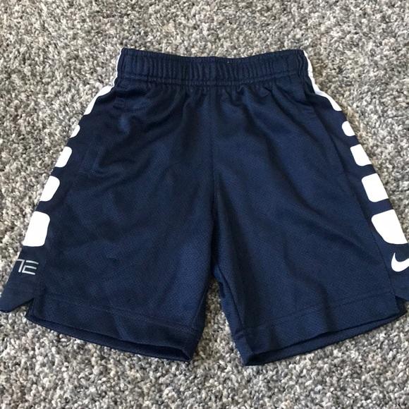 Nike Boys Elite Dri-Fit Basketball Shorts Blue nwt $35